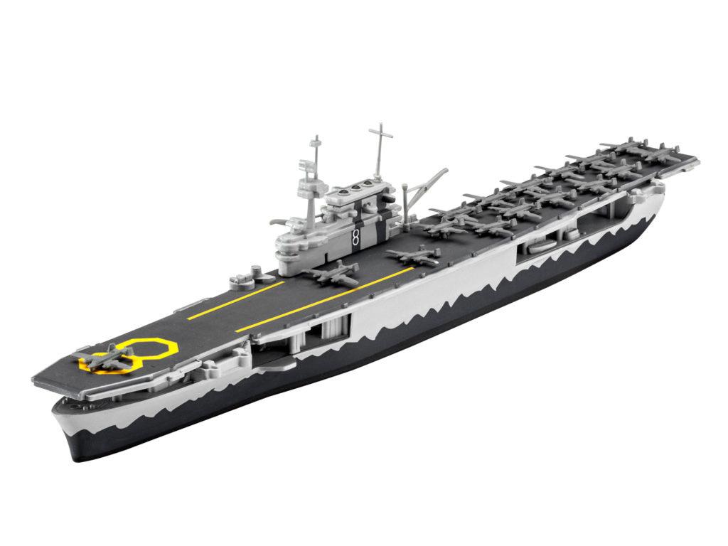REVELL USS HORNET 65823 1:1200 Plastic Model Kit