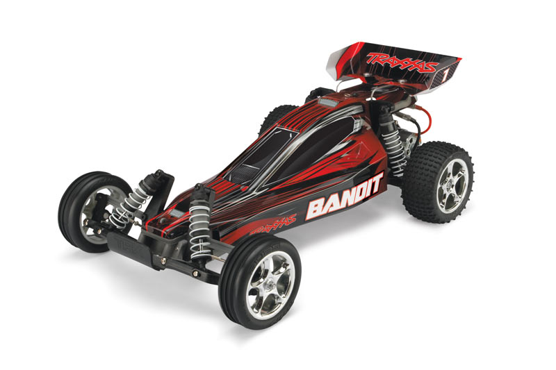 Traxxas 1/10 Bandit 2WD Electric Off Road RC Buggy (RED) 24054-1