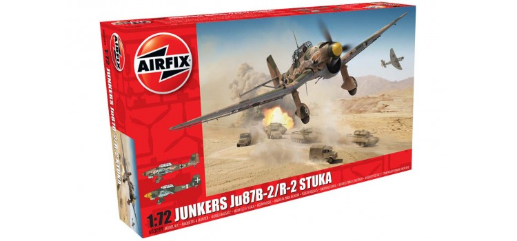 Junkers Ju87B-2/R-2 Stuka 1/72 AIRFIX 03089 Plastic Model Kit