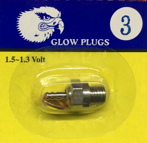 EAGLE GLOW PLUG #3 HOT SUIT CAR/BUGGY/PLANE