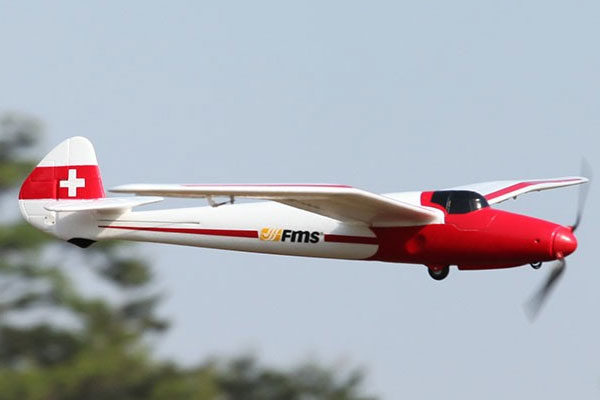 FMS MOA 1500MM GLIDER WHITE RTF