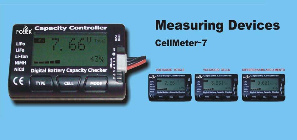 CELLMETER-7 BATTERY CHECKER LCD