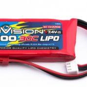 NV 900MAH 7.4V 2S 30C LIPO NVO1801