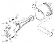 F1216 (YS ENGINE PART) ROCKER ARM SHAFT SCREW