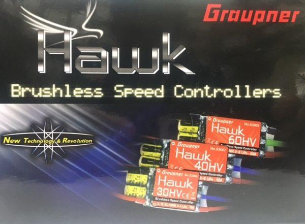 HAWK ESC 60AMP HV BRUSHLESS  (FWD/REV)