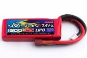 NV 1900MAH 7.4V 2S 30C LIPO NVO1802