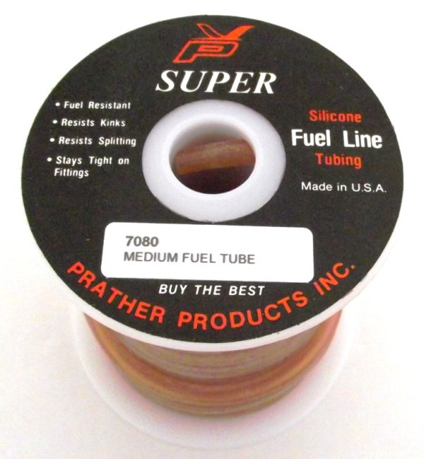 PRATHER SILICON FUEL TUBE MEDIUM 30 FOOT ROLL