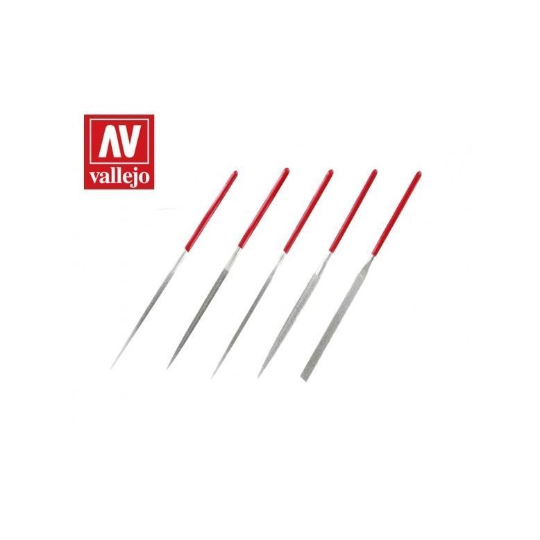 VALLEJO SET OF 5 DIAMOND NEEDLE FILES AVT03002