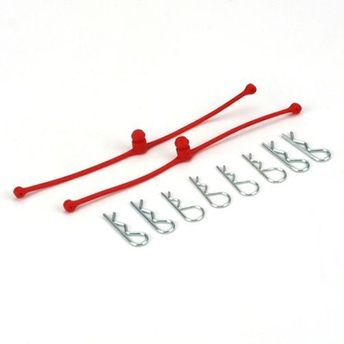 BODY KLIP RETAINERS RED 2PCE DUBRO 2248