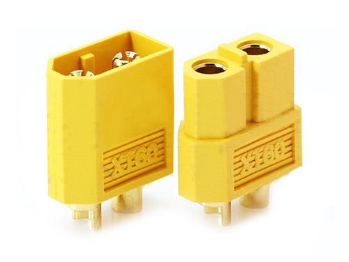 XT60 YELLOW BULLIT PLUG PAIR