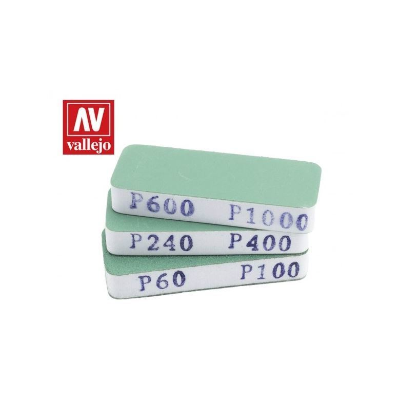 VALLEJO FLEXISANDER DUAL GRIT X3 (80X30X12MM) AVT04004