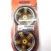 ACE DRIFT TYRE&RIMS GOLD/CHROME