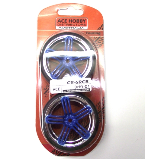 ACE DRIFT TYRE&RIMS BLUE/CHROME