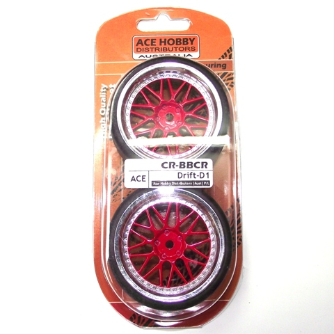 ACE DRIFT TYRE&RIM RED/CROME