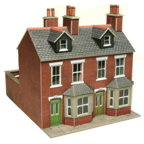 METCALFE PO261 TERRACED HOUSES RED BRICK