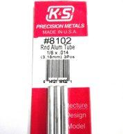 K&S METAL #8102 1/8' OD ALLOY TUBE 3PCS