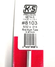 K&S METAL #8103 5/32' OD ALLOY TUBE 1PC