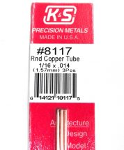 K&S METAL #8117 1/16' OD COPPER TUBE 3PCS