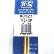 K&S METAL #8121 1/8' OD SOFT BRASS FUEL 2PCS