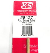 K&S METAL #8127 1/8' OD BRASS TUBE 1PC