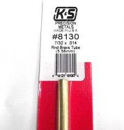 K&S METAL #8130 7/32' OD BRASS TUBE 1PC
