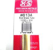 K&S METAL #8134 11/32' OD BRASS TUBE 1PC