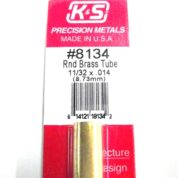K&S METAL #8134 11/32' OD BRASS TUBE 1PC