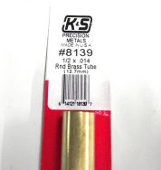 K&S METAL #8139 1/2' OD BRASS TUBE 1PC