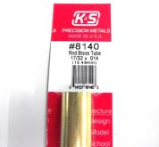 K&S METAL #8140 17/32' OD BRASS TUBE 1PC