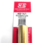 K&S METAL #8141 9/16' OD BRASS TUBE 1PC