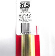 K&S METAL #8142 19/32' OD BRASS TUBE 1PC