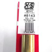 K&S METAL #8143 5/8' OD BRASS TUBE 1PC