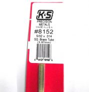 K&S METAL #8152 5/32' OD SQUARE BRASS TUBE 1PC