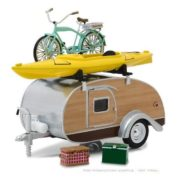 1:24 TEAR DROP CARAVAN W/BIKE & KAYAK HITCH & TOW TRAILERS  GL18430-A