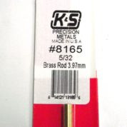 K&S METAL #8165 5/32' SOLID BRASS ROD 1PC