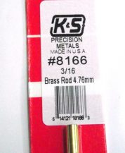 K&S METAL #8166 3/16' BRASS ROD 1PC
