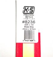 K&S METAL #8236 .025 X 1/2' BRASS STRIP 1PC