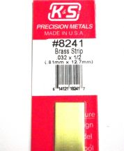 K&S METAL #8241 .032 X 1/2' BRASS STRIP 1PC