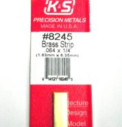 K&S METAL #8245 .064 X 1/4' BRASS STRIP 1PC