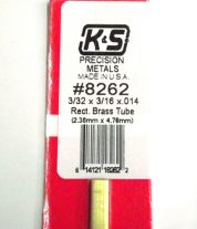 K&S METAL #8262 3/32 X 3/16 RECTANGLE BRAS TUBE 1PC