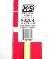 K&S METAL #8264 1/8 X 1/4 RECTANGLE BRASS TUBE 1PC