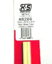 K&S METAL #8266 5/32 X 5/16 RECTANGLE BRASS TUBE1PC