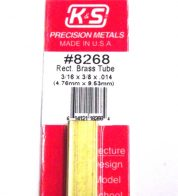 K&S METAL #8268 3/16 X 3/8 RECTANGLE BRASS TUBE 1PC
