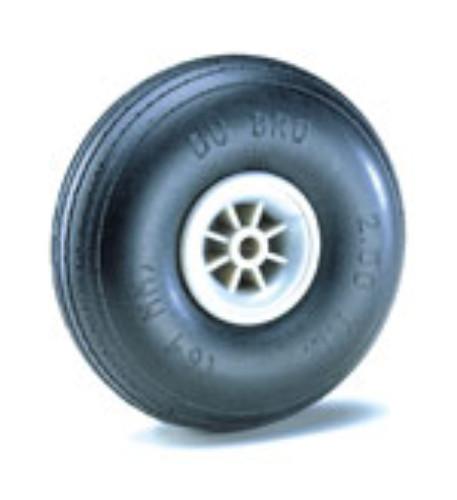 3-1/4' TREAD LIGHT WHEELS 1PCS DUBRO 325TL