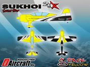 KRILL SUKHOI 29-37% RACE YELLOW Clear Canopy Fitted