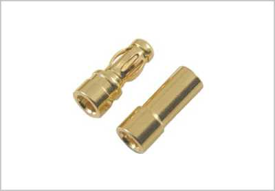 GOLD BULLET CONNECTORS 3.5MM 10 PAIR