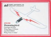 HUMMINGBIRD Electric Composite Glider 1.22M TY1