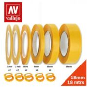 VALLEJO PRECISION MASKING TAPE 1MMX18M-TWIN PACK AVT07002