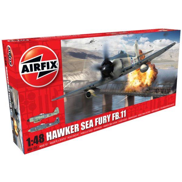 HAWKER SEA FURY 1/48 AIRFIX 06105 Plastic Model Kit