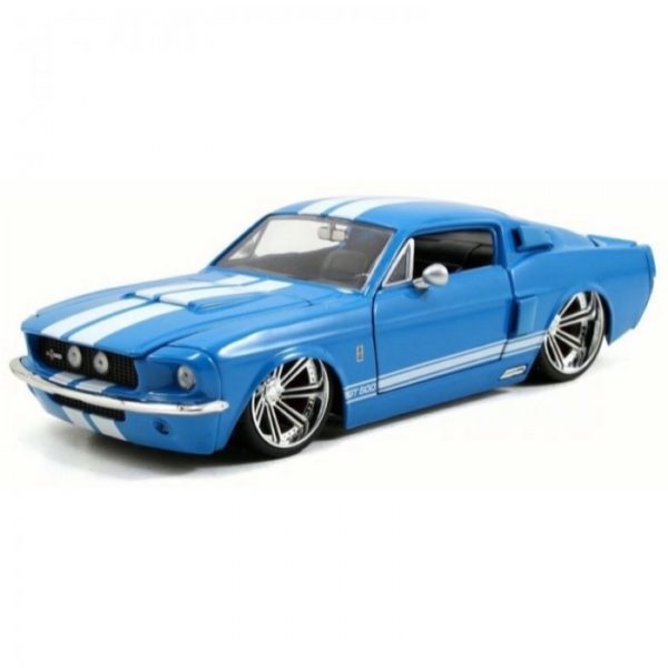 1:24 BTM BLUE 1967 FORD SHELBY GT500 SABER 8 JA97401